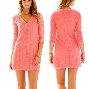 Lilly Pulitzer Breakers Lace Dress in Pucker Pink